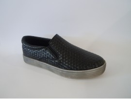 ENERGY Slip-on Intrecciato Nero