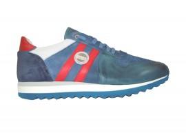 EXTON 555 sneakers pelle blu