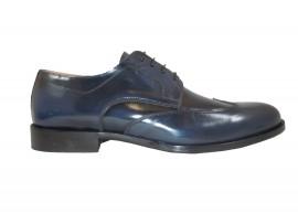EXTON 1372 Scarpa Abrasivato Blu