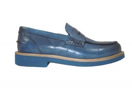 EXTON 9102 Mocassino Pelle Jeans