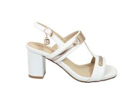 LAURA BIAGIOTTI 649 Sandalo Pelle Bianco