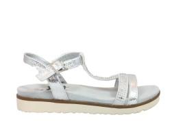 XTI 47663 Sandalo Metallizzato Argento
