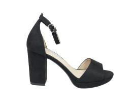 XTI 30686 Sandalo Tacco Camoscio Nero