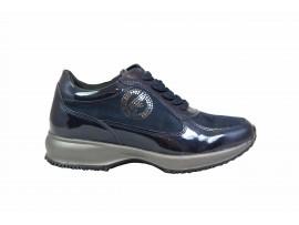 CARLA KOTE X19 Sneaker Vernice Blu