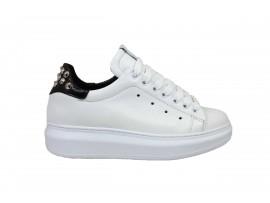 TONY WILD 1522 Sneaker Pelle Bianco