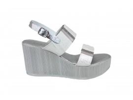 CINZIA SOFT 20295 Sandalo Pelle Argento