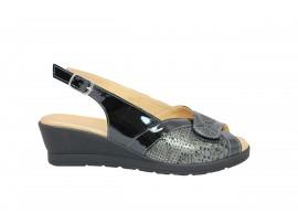 CINZIA SOFT 5768 Sandalo Pelle Nero