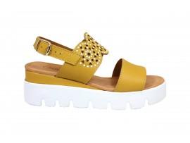 CINZIA SOFT 40901 Sandalo Pelle Giallo