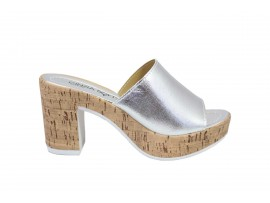 CINZIA SOFT 829401 Sandalo Pelle Argento