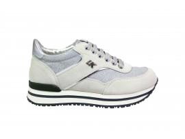 LUMBERJACK 04805 Sneaker Camoscio Bianco Silver