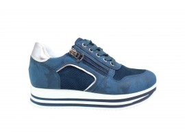 ENERGY 55 Sneaker Nabuk Blu
