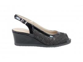 COMART 022872 Chanel Sandalo Pelle Nero