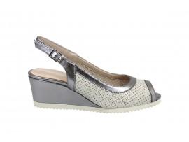 COMART 022872 Chanel Sandalo Pelle Beige