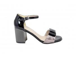 COMART 822883 Sandalo Vernice Nero