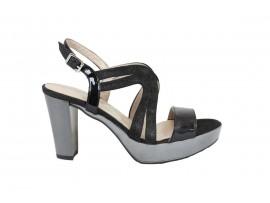 COMART 092928 Sandalo Vernice Nero