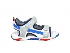 MELANIA 4000 Sandalo Pelle Bianco Grigio