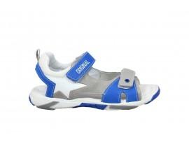 MELANIA 6017 Sandalo Pelle Grigio
