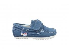 MELANIA 3201 Mocassino Nabuk Jeans