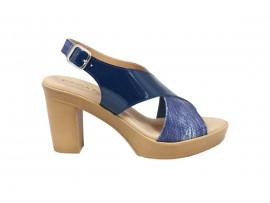 CINZIA SOFT 63001 Sandalo Pelle Blu