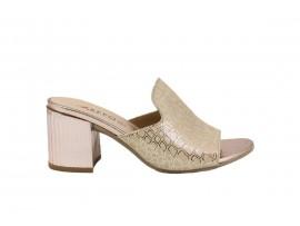 REPO 47158 Sandalo Tacco Pelle Platino