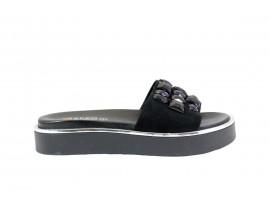 REPO 61137 Sandalo Basso Pelle Nero