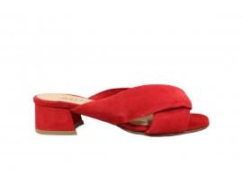REPO 37133 Sandalo Tacco Camoscio Rosso