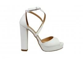 ADELE 9253 Sandalo Pelle Bianco
