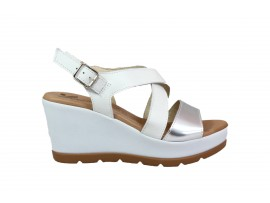 SUSIMODA 370849 Sandalo Pelle Argento