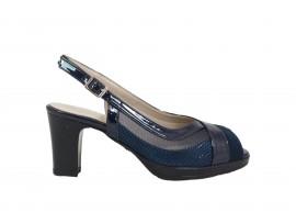 COMART 322807 Sandalo Vernice Blu
