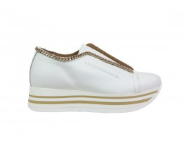 CROWN 2651 Sneaker Pelle Bianco