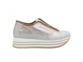 CROWN 2651 Sneaker Pelle Rame