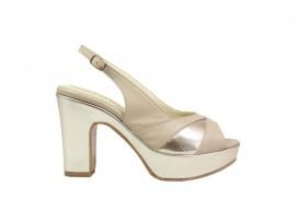 ESTHER 093 Sandalo Pelle Beige