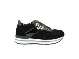 LUMBERJACK 04805 Sneaker Camoscio Nero