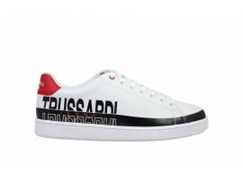 TRUSSARDI 77A00210 Sneaker Pelle Bianco Rosso