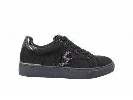 GATTINONI 0938 Sneaker Camoscio Nero
