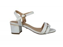 LAURA BIAGIOTTI Sandalo Vernice Bianco