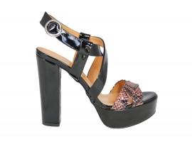 ADELE 5602 Sandalo Vernice Nero