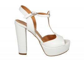 ADELE 5603 Sandalo Pelle Bianca