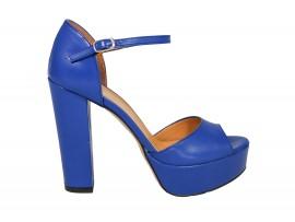 ADELE 5601 SANDALO Pelle Blu