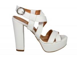 ADELE 5602 Sandalo Pelle Bianca