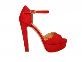 ADELE 5098 Sandalo Camoscio Rosso