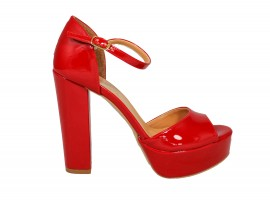 ADELE 5601 Sandalo Vernice Rossa