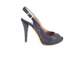 ALBANO 8327 Sandalo Party Pelle Blu