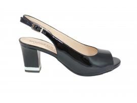 DONNA SOFT 6859  Sandalo Vernice Nero