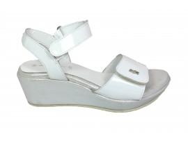 ADRIANA DEL NISTA Sandalo Vernice Bianco