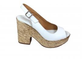 RAQUEL PEREZ Sandalo Pelle Bianco