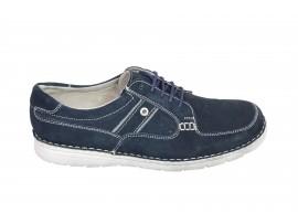 TRENOGARINE Sneaker Camoscio Blu