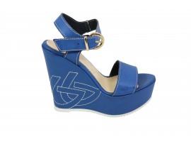 BLU BYBLOS Sandalo Pelle Blu
