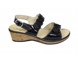 SUSIMODA Sandalo Vernice Nero