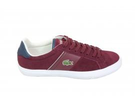 LACOSTE Sneaker Camoscio Bordeaux